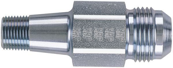 -12 Extended Oil Inlet Male Flare to 3/8 NPT - Short - Steel