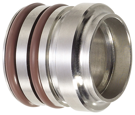 -12 Male Clamshell Socket Weld-On With Double O-Ring - Aluminum