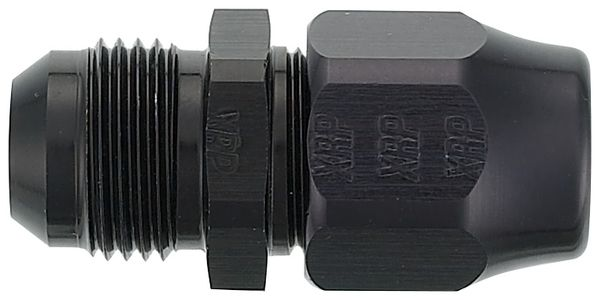 """-12 Male Tubing Adapter for 3/4"""" Tube - Aluminum - Black Anodized"""