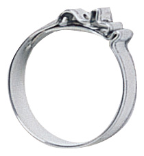"""-12 Push-On Hose Clamp 1.0"""" ID x .315"""" Width (4 Pcs.) - Stainless"""