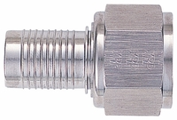-12 Straight HS-79 Hose End - Aluminum - Super Nickel Plated