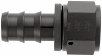 -12 Straight Push-On Hose End - Aluminum - Black Anodized