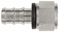 -12 Straight Push-On Hose End - Aluminum - Super Nickel Plated