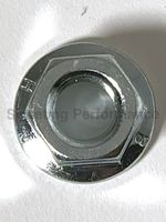 3/8-16 Hex Flange Nut Serrated, Stainless Steel