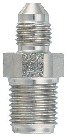 -3 Male to 1/2-20 Inverted Flare Power Steering Fitting - Steel