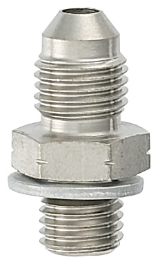 -3 Male to 7/16-24 Seal Adapter With Crush Washer - Steel