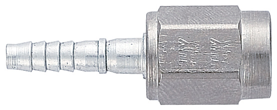 -3 Straight Insert With Nut for -3 PTFE Hose - Crimp - Steel