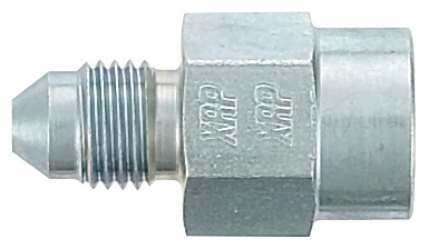 -3 Straight to 1/8 NPT Gauge Fitting - Steel