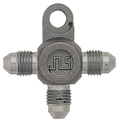 3-Way Connector With Bracket -3 Male JIC - Stainless