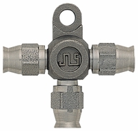 3-Way, Hose Connector With Bracket, -3 Hose - Stainless