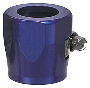 "-4 Hose Finisher 1/2"" ID Hex Body - Aluminum - Blue Anodized"