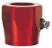 "-4 Hose Finisher 1/2"" ID Hex Body - Aluminum - Red Anodized"