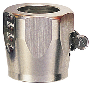 """-4 Hose Finisher 1/2"""" ID Hex Body - Aluminum - Super Nickel Plated"""