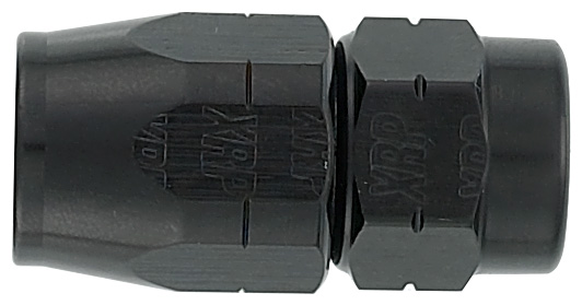 -6 Straight Hose End to M14 x 1.5 DIN - Aluminum - Black Anodized