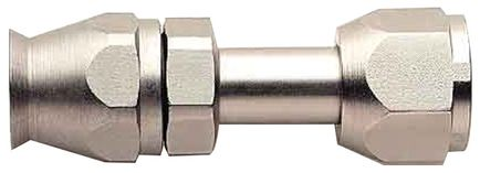 -8 Straight Air Conditioning Hose End - Female O-Ring Pilot - Steel