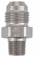 "Adapter, -6 Flare to 1/8 NPT with 0.260"" ID - Steel"