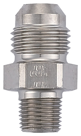 """Adapter, -6 Flare to 1/8 NPT with 0.260"""" ID - Steel"""