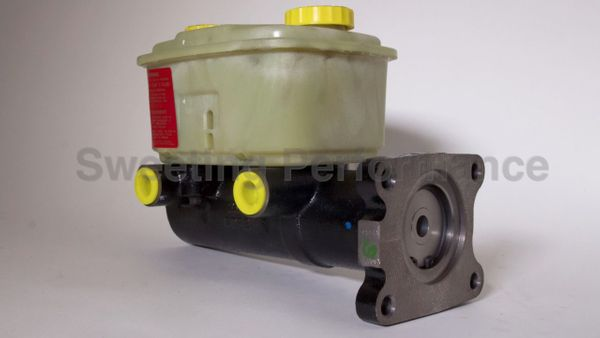 """Hydro-Max Brake Master Cylinder 1-3/4, 1.75"""" Bore w/ Short Reservoir and Brake Ports for Brass Manifold"""