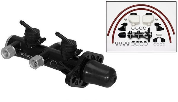 Wilwood Remote Reservoir 1-1/8 Inch Black Master Cylinder