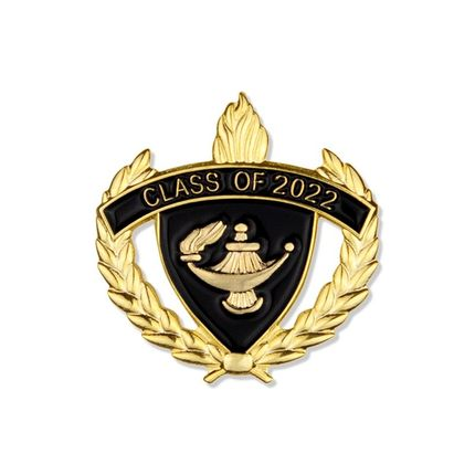 1 Inch Gold Class of 2022 Enameled Lapel Pin