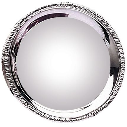 12 Inch Nickel Plated Gadroon Tray-Holds White 12 Inch Disc for Sublimation