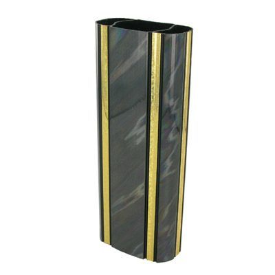 2-3/8 x 8 Inch Oval Black Splash Trophy Column-Other Lengths Available