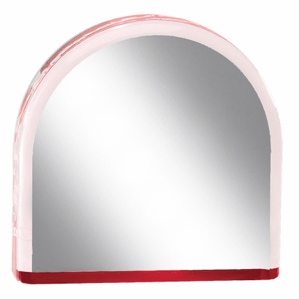 4 Inch Arched Acrylic Red Reflective Mirror Award