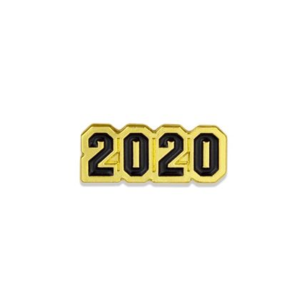 5/8 Inch 2020 Enameled Chenille Pin