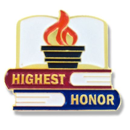 7/8 Inch Highest Honor Enameled Lapel Pin