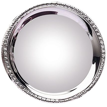 8 Inch Nickel Plated Gadroon Tray-Holds White 8 Inch Disc for Sublimation