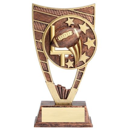 9 Inch Antique Gold Resin Star Football Trophy