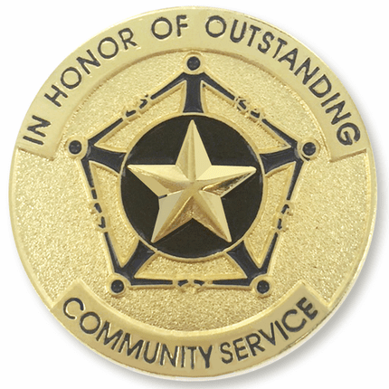 1 Inch Outstanding Community Service Enameled Lapel Pin