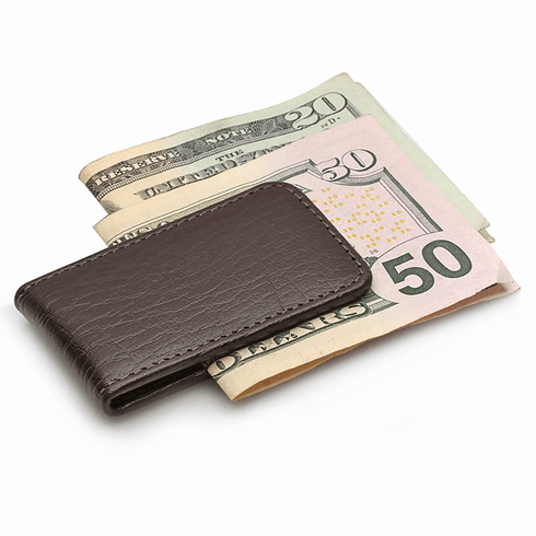 Classic Leather Magnetic Money Clip