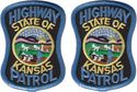 2 Hat Size Kansas Highway Patrol Patches