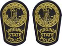 2 Hat Size Virginia State Police Patches