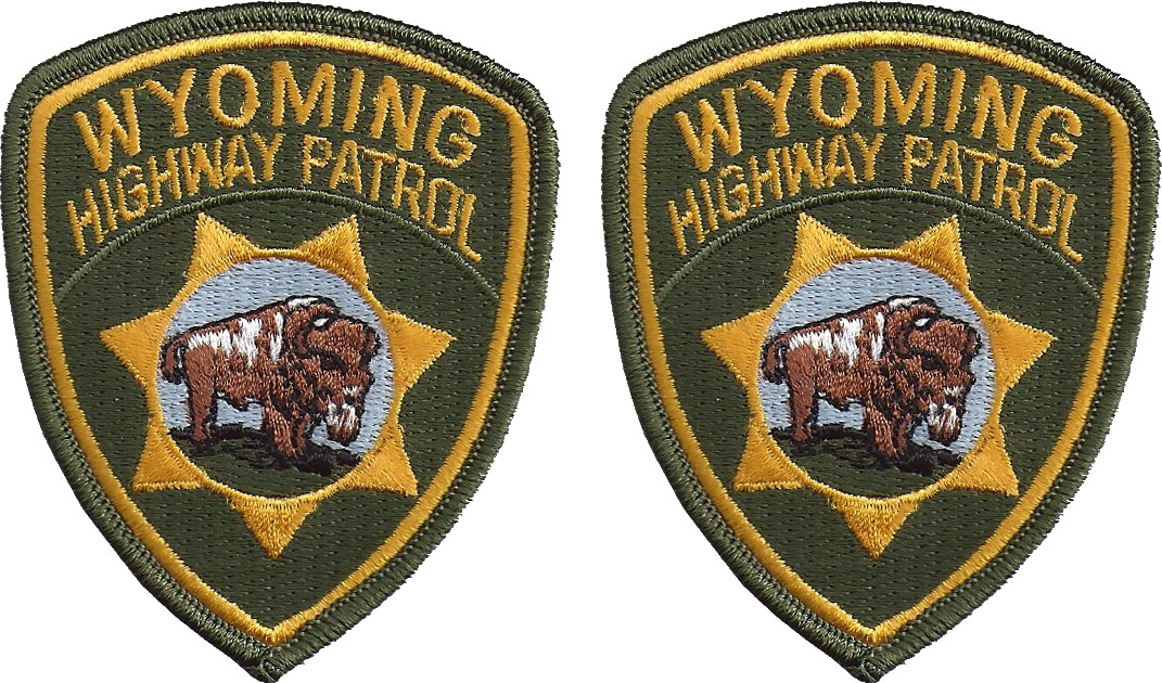 WYOMING HIGHWAY PATROL  PATCH HAT SIZE