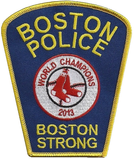 Boston Police Boston Strong Red Sox World Series 2013 Massachusetts Patch f23cd9947f7