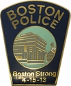 Boston Strong 4-15-13 Boston Police Patch Pin