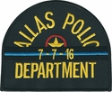 Dallas Police Texas Thin Blue Line 7/7/16 Commemorative Mourning Band Patch
