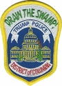 Drain the Swamp! Trump Police Metropolitan Police DC Hat Patch