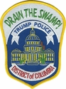 Drain the Swamp! Trump Police Metropolitan Police DC Shoulder Patch