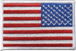Flag White Boarder Military Shoulder Patch