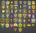 Hat Size Set of all 50 United States Police Patches
