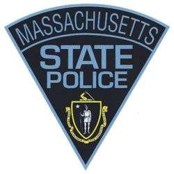 Massachusetts State Police Patch Shape Decal