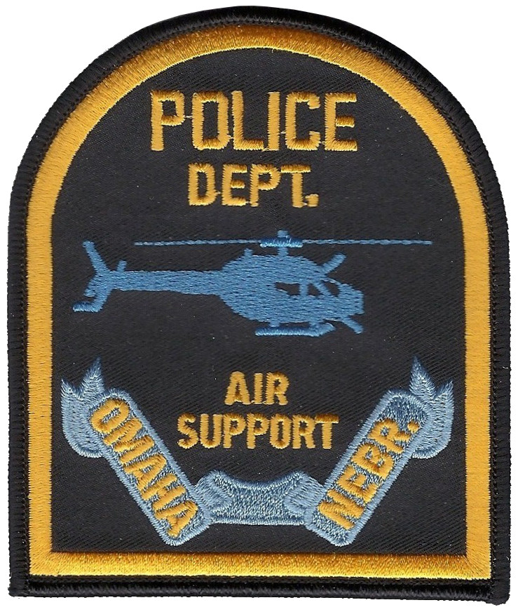 Omaha Police Department Air Support Nebraska Patch
