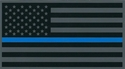 Police Thin Blue Line Subdued American Flag Decal 4.25""