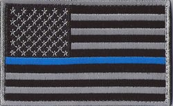 Thin Blue Line Subdued United States Flag Patch with Velcro