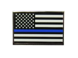 Thin Blue Line USA Subdued Flag Police Pin