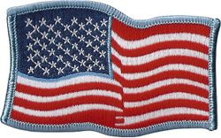 United State Flag Wavy Patch