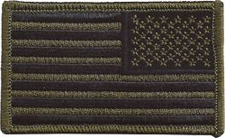 United States Military Green Flag Patch